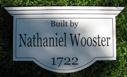 Custom sign for historical house