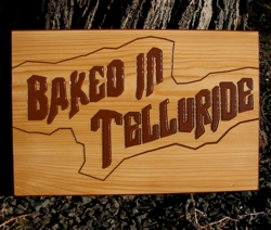 Natural looking sign for a bakery in Telluride