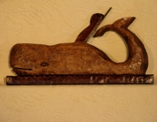 Antique grove plane hand carved as a whale