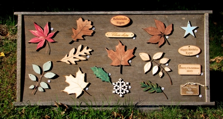 Complete display with all wooden leaves we offer