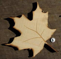Maple wooden leaf natural finish