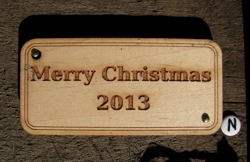 Rectangular wooden gift tag