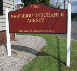 Custom HDU sign with gold lettering on burgandy background