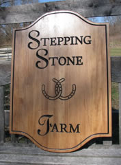 Custom farm sign, all cypress with black carved lettering