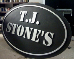 Raised letter custom sign in HDU material