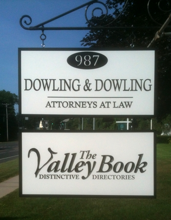 Custom business sign double sided, carved  PVC economical signage